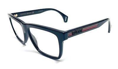 Gucci GG0464O 006 Black Men's Authentic Eyeglasses Frame 56-15-B4