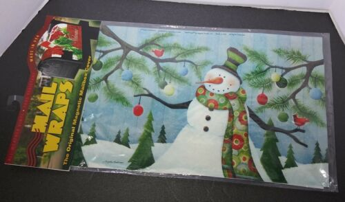 New Mail Wraps Magnetic Mailbox Cover Let It Snow Snowman Holiday Decor Vinyl