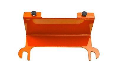 Fluorescent Orange License Plate Relocation Bracket Wrangler JK 07-18 Steinjager