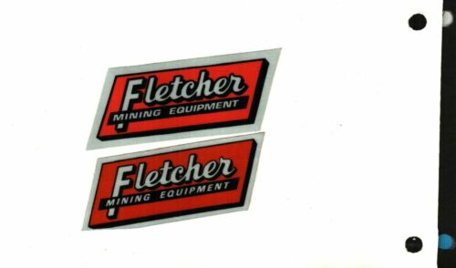 2 NICE Fletcher Coal Mining Stickers