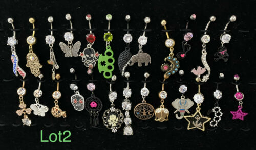 *LOT 2 WHOLESALE 25  BELLY RINGS