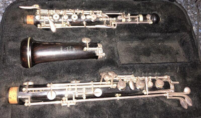 Vintage Noblet Grenadilla Oboe with Case - Made in France