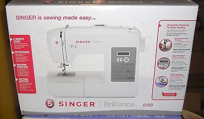 New Singer 6199 Brilliance 100 Stitch Computerized Auto Threading Sewing Machine