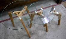 New Scandi Round Tempered Glass Nesting Tables Side Coffee Melbourne CBD Melbourne City Preview