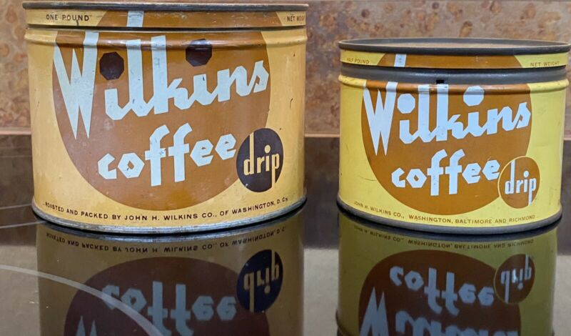 Wilkins Coffee Can Tin