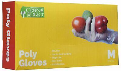 Disposable Pe Plastic Gloves Size Medium Bpa - Rubber - Latex Free Box Of 500