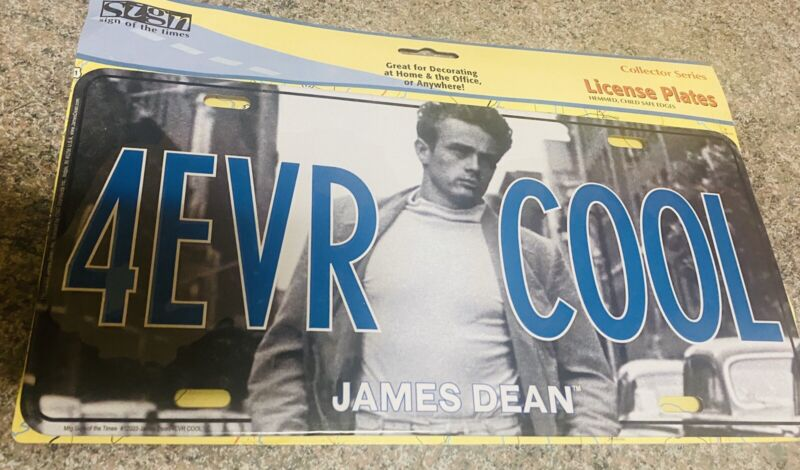 JAMES DEAN,  4 EVER COOL LICENSE PLATE - FUN NOVELTY, NEW IN PACKAGE