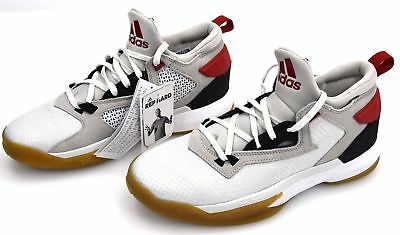 adidas D Lillard 2 F37123 Home Dame White Red Scarlet Black Rip City Basketball