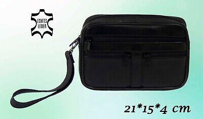 Herren Tasche Handgelenktasche Handtasche Leder Schwarz - 21 * 15 * 4 cm   online kaufen