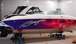 Decals/lettering/stickers for boats and other watercraft