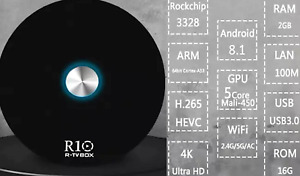 R10 Android 8.1 TV Box - Fast Wi-Fi with RK3328 CPU NOT RK3229!