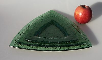 "Triangle Glass Plates 3-PC Set 12"", 10"",8"" Green"
