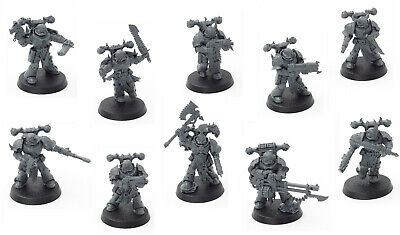 10x Chaos Space Marines Schattenspeer Shadowspear Warhammer 40k
