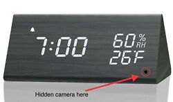 Spy Camera WiFi Hidden Wireless Digital Desk Watch Security Nanny Cam HD 1080P