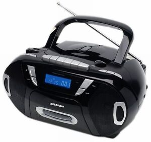 Radio- CD / MP3 Player- USB -Kassetten-Rekorder + SD/MMC +Tragbarer +LCD Display