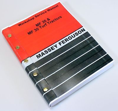 Massey Ferguson Mf 30 30t Industrial Tractor Service Repair Workshop Manual