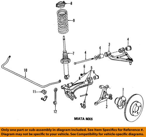 mazda 5 sway bar diagram mazda oem 99-05 miata front-lower control arm n06634310 | ebay