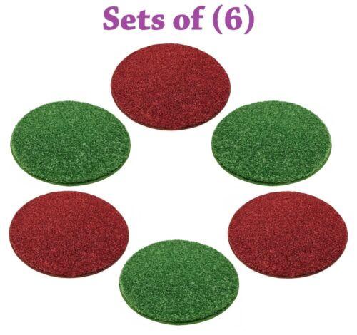 Set of 6 Christmas Crazy Carpet Circle Seats