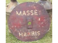 Vintage original Massey Harris agricultural machinery part- factory painted name