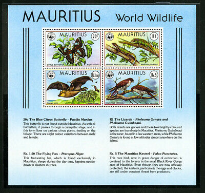 Mauritius World Wildlife WWF Stamps # 472a, used for sale  Shipping to India