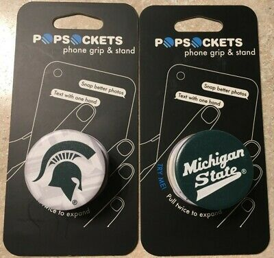 New Michigan State Spartans Pop Socket iPhone Cell Phone Stand Green White covid 19 (Michigan State Spartans Green coronavirus)