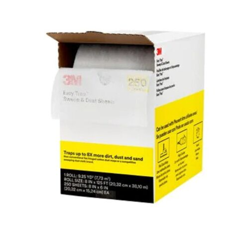 3M™ Easy Trap™ Sweep & Dust Sheets, 8 in x 6 in, 250 Sheets/Roll 85919
