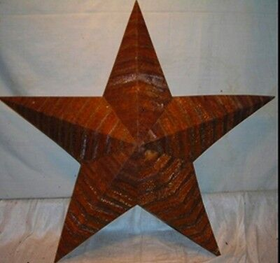 Rustic Genuine Amish Quality Primitive 12 inch Barn Star USA Made NATURAL RUST