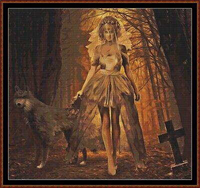 HALLOWEEN BRIDE Patrón de punto de cruz [PDF en un CD] (fantasia) - Fantasias De Halloween