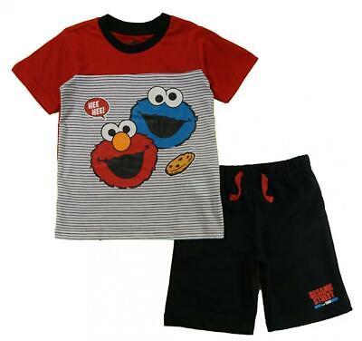 Sesame Street Boys Elmo & Cookie Monster 2pc Short Set Size 2T 3T 4T
