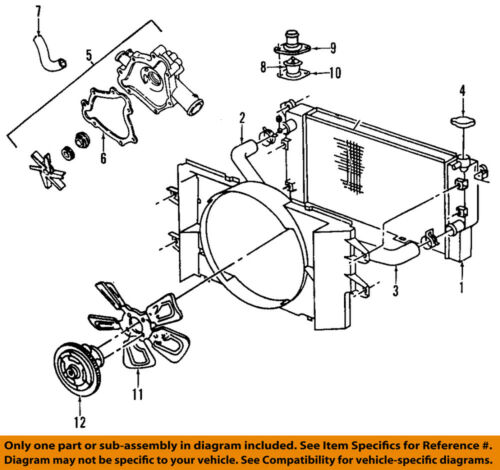 dodge 3.7l engine diagram chrysler oem engine water pump 53022189ah ebay  chrysler oem engine water pump