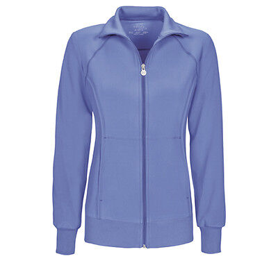 Ciel Blue Cherokee Scrubs Infinity Zip Front Jacket 2391A CIPS Antimicrobial ()