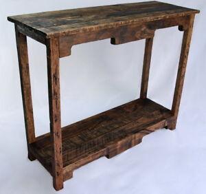Sofa Table Handmade Reclaimed Pallet Wood  UpCycled   Vintage, Rustic Look