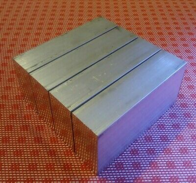 4 Pc 1 X 2 X 4 Aluminum 6061 T6 New Solid Plate Flat Bar Stock Mill Block Mt