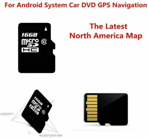 16GB Micro SD CARD MAP USA Canada Mexico -Android System Car Auto GPS DVD Radio