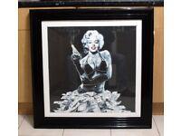 "Marylin Monroe wall Picture Liquid Art Framed 34"" x 34"" (87cm x 87cm)"