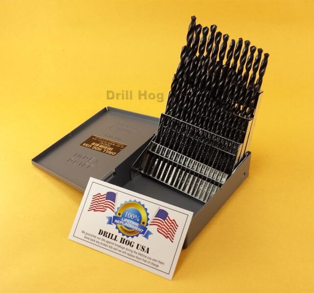 Drill gauge ebay drill hog 60 pc number drill bit set wire gauge bits moly m7 lifetime warranty greentooth Images