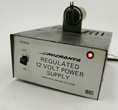 Micronta Regulated 12 Volt Power Supply 13.8 Vdc 2.5a Amp Cat. No. 22-124 Indoor