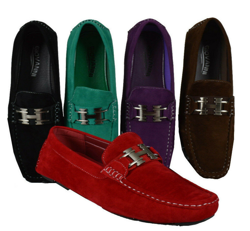 MEN GIOVANNI DRESS LOAFER ITALIAN CASUAL SLIP-ON SOLID SUEDE FASHION M9513