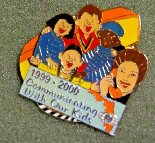 Kiwanis 1999-2000 Communicating With Our Kids Lapel Pin Florida