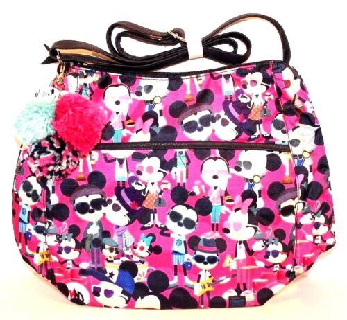 Disney Shanghai Resort Mickey & Minnie Mouse Hipster Tote Crossbody Purse Bag