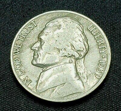 1939 S Jefferson Nickel, Rare, Mint of 6.6 MIL,  Free -