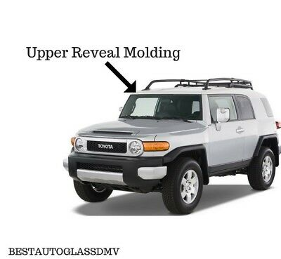 Brand New 2007-2014 Toyota FJ Cruiser White Upper Top Windshield Reveal Molding