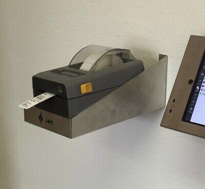 Jolt Wall Mount Stainless Steel Shelf 11x5x5 Holds Label Printer