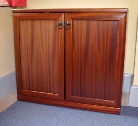 Solid Wood 2 door storage cupboard cabinet - Rosewood colour finish