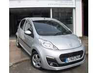 2013 TOP MODEL PEUGEOT 107,HATCHBACK 5DOOR,ZERO ROAD TAX,VERY LOW MILES,BLUETOOTH,AIR CON,CD,ALLOY