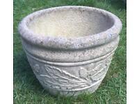 Leaf Patterned Garden Pot