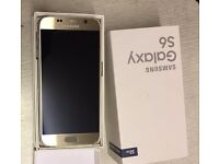 samsung galaxy s6,32gb,gold colour,unlocked new condition in box