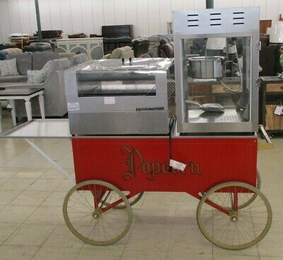 Gold Medal Hot Dog Grill Wbun Tray Popcorn Machine With 6 Cart