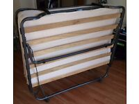 FOLDING DOUBLE GUEST BED CHEAP with Memory Foam MATTRESS - collection from Notting Hill.