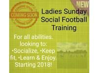 Starting Soon. New Ladies Sunday Social Football Training.